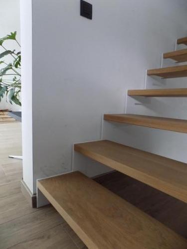Trap - slim met houten treden