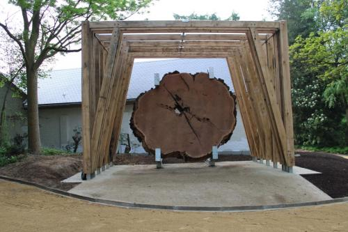 Paviljoen en structuur Mammoet boom
