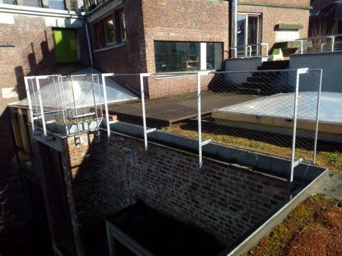 Net - Verzinkte balustrade met net uit inox