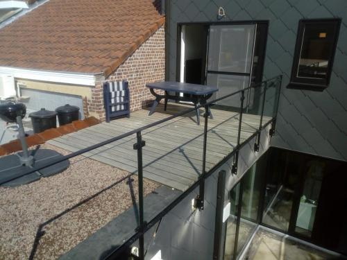 Balustrade 'Square' met glas